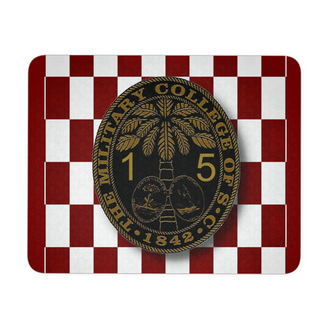 Class of 2015 Ring Bezel with Checkerboard Background Mouse Pad