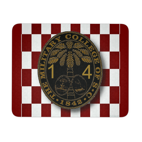 Class of 2014 Ring Bezel with Checkerboard Background Mouse Pad