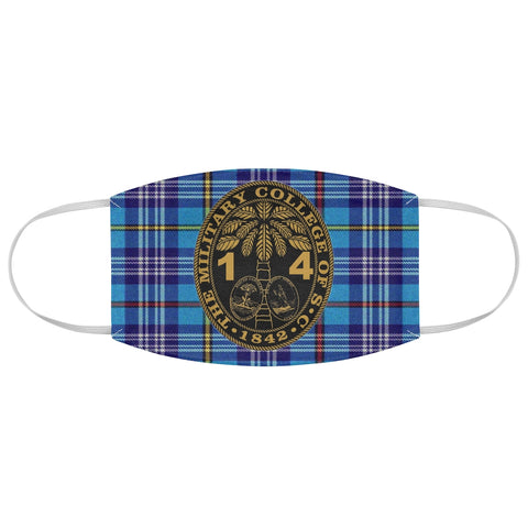 Class of 2014 Ring Bezel Tartan design Fabric Face Mask