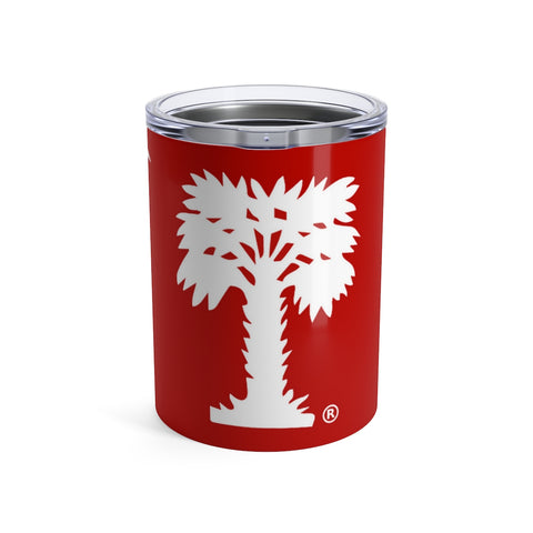 Big Red Tumbler with Checker Board 10oz