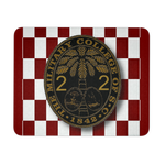 Class of 2022 Ring Bezel with Checkerboard Background Mouse Pad