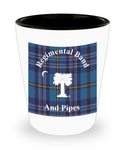 Regimental Band and Pipes Shot Glass