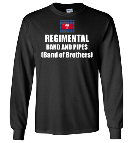 Regimental Band and Pipes (Band of Brothers) Long Sleeve Shirts