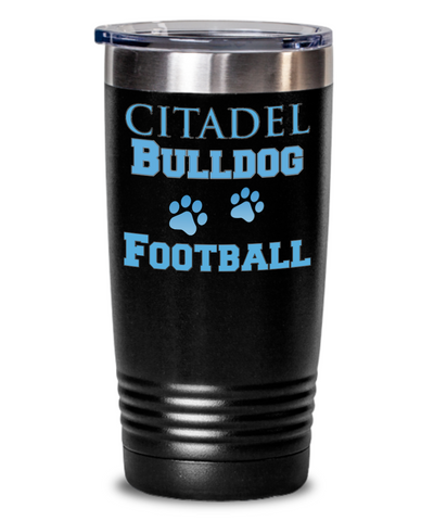 Citadel Bulldog Football Tumbler