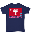 Big Red Casual Cats in Pink Shirts