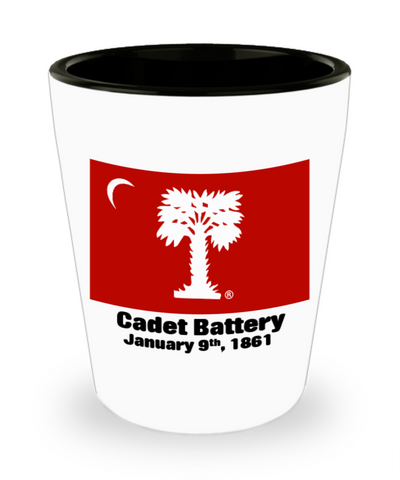 Cadet Battery Shot Glass