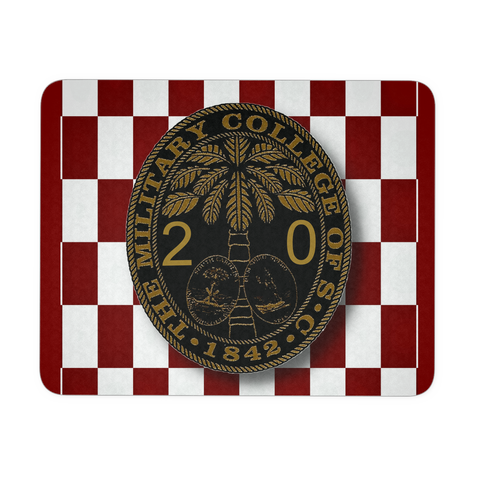 Class of 2020 Ring Bezel with Checkerboard Background Mouse Pad