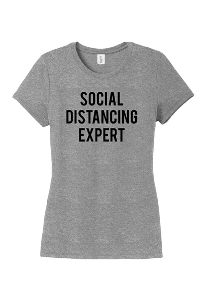 TKO Tees -'Social Distancing Expert' ladies' tri-blend tee.