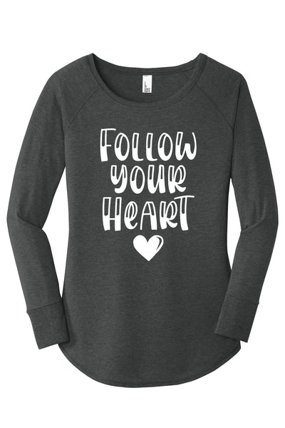 TKO Tees - Follow Your Heart ladies' tunic.