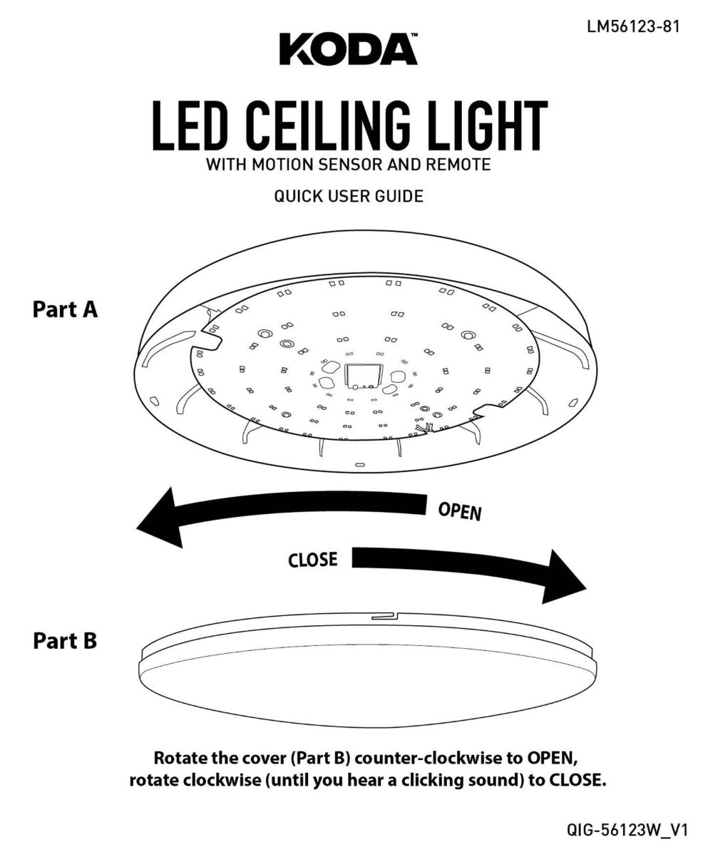 best service d1e06 05ae5 LED Ceiling Light with Motion Sensor and Remote - KODA™