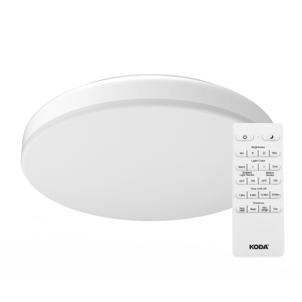 "14"" LED Ceiling Light with Motion Sensor and Adjustable Color - KODA™"