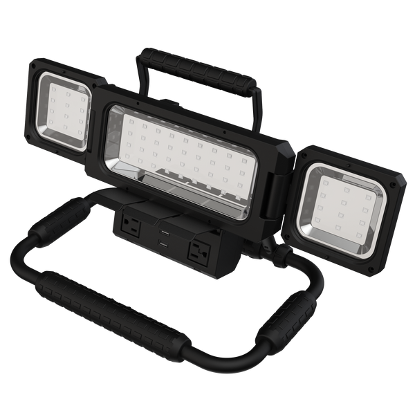 Koda Multidirectional LED Work Light with 120V Outlets and USB Charging - Koda