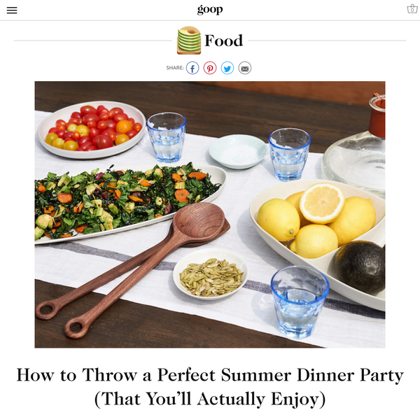 Goop Food Guide