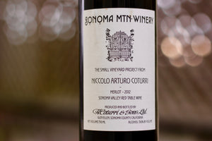 2012 Niccolo Coturri Sonoma Mountain Winery Merlot