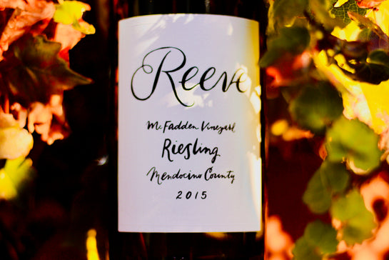 2015 Reeves Riesling 'McFadden Vineyard'