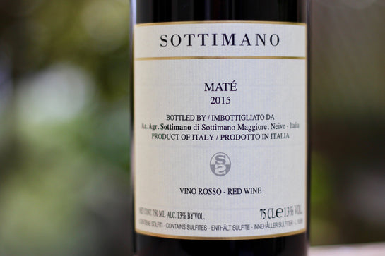 2015 Sottimano 'Maté' Dry Brachetto - Rock Juice Inc