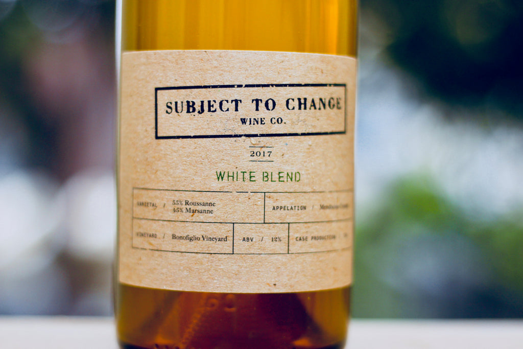2017 Subject to Change Wine Co. Bonofiglio White Blend - Rock Juice Inc