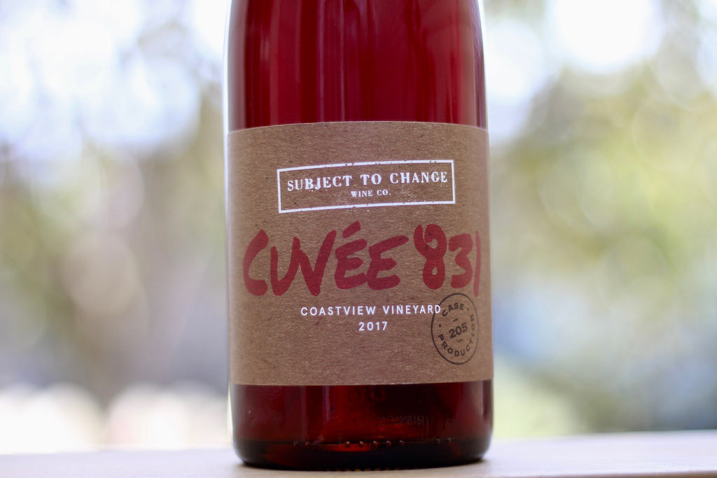 2017 Subject to Change 'Cuvee 831' Coastview Vineyard - Rock Juice Inc