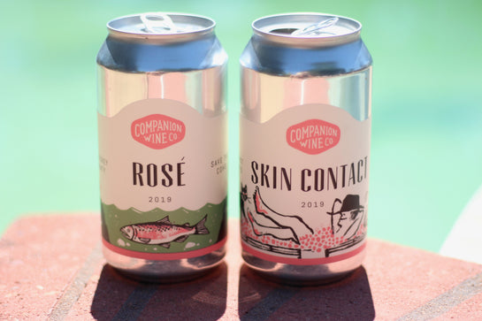 2019 Companion Wine Co. CANS 2-pk: Rosé & Pinot Gris - Rock Juice Inc