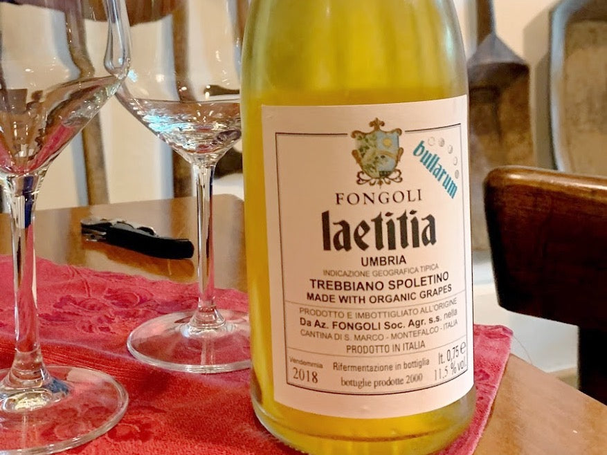 2018 Fongoli 'Laetitia Bullarum' Trebbiano Spoletino I.G.T. Umbria Frizzante Natural - Rock Juice Inc