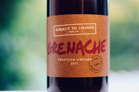 2017 Subject to Change Coastview Vineyard Grenache - Rock Juice Inc