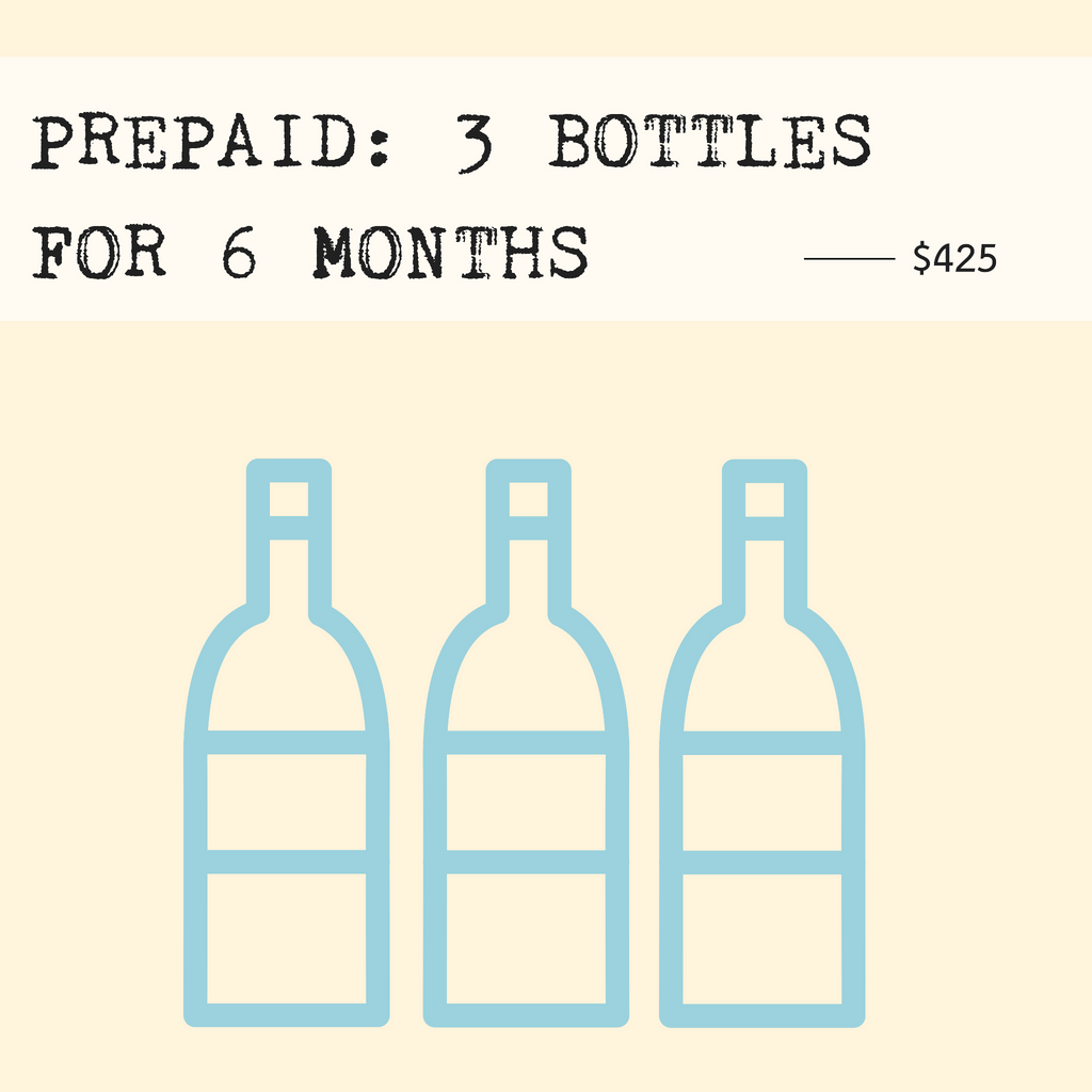 Prepaid: 3 Bottles Monthly for 6 Months (includes shipping)