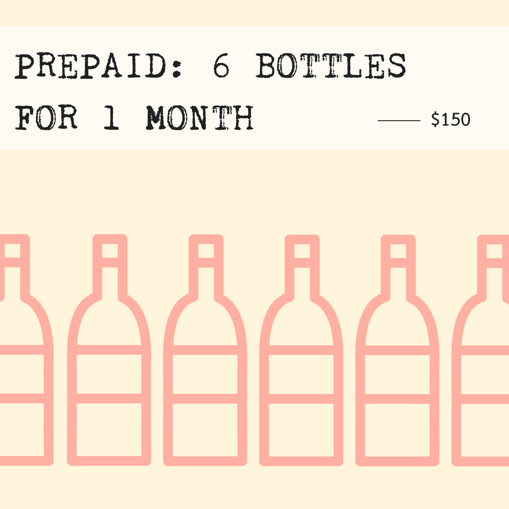 Prepaid: 6 Bottles for 1 Month (includes shipping)