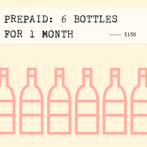 Prepaid: 6 Bottles for 1 Month (includes shipping) - Rock Juice Inc