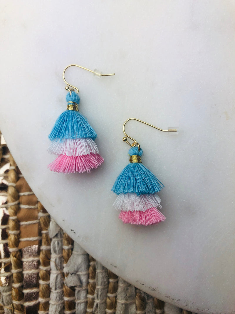 Mini Gwen Three Tier Earring