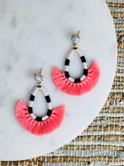 Simmons Tear Drop Tassel Earrings