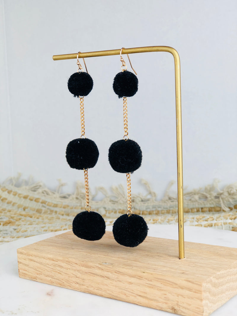 Norah Pom Chain Earrings