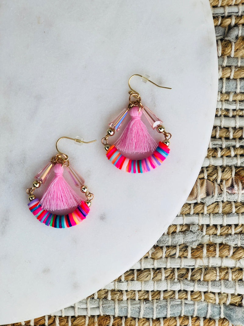 Lauper Rainbow Hoop Earrings
