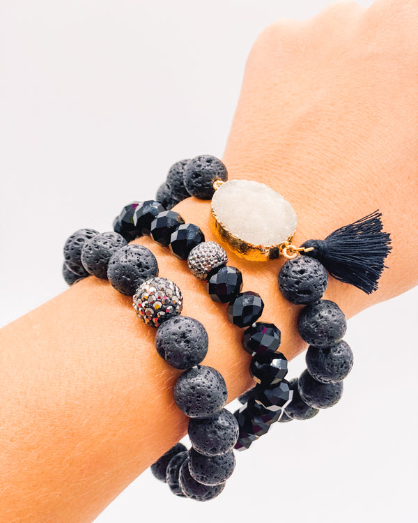 Lava Rock Geode Stack
