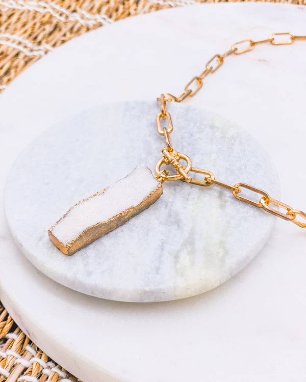 Gia Geode Necklace