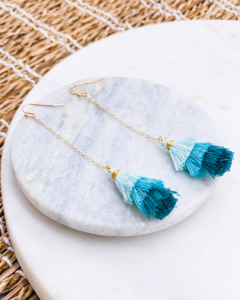 Customizable Warm Tassel Earrings