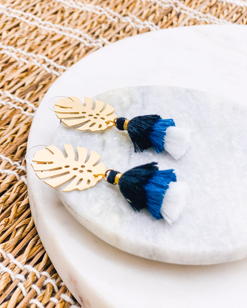 Customizable Bright Tassel Earrings