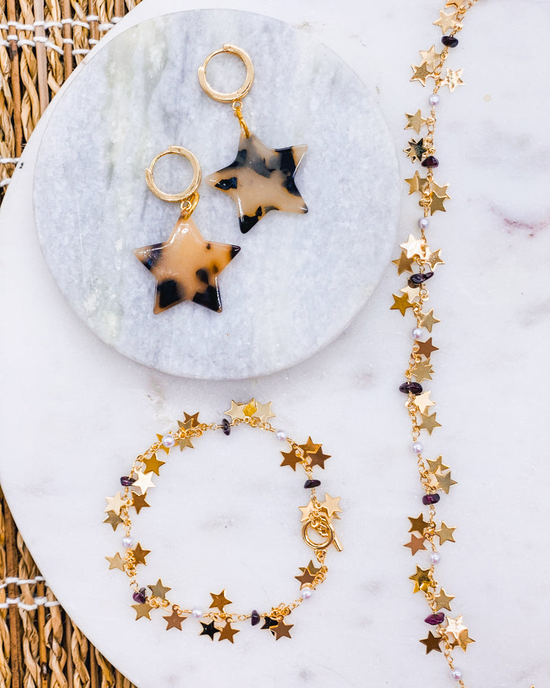 Rihanna Gold Star Necklace