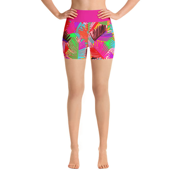 Pretty in Palm Yoga Shorts