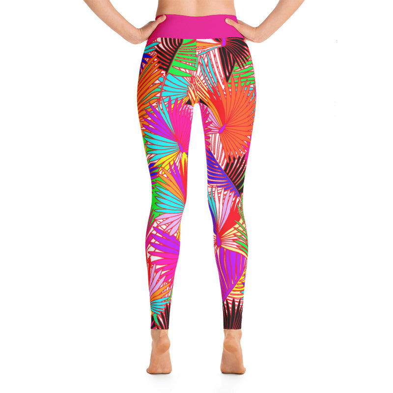 Pretty In Palm Yoga Leggings