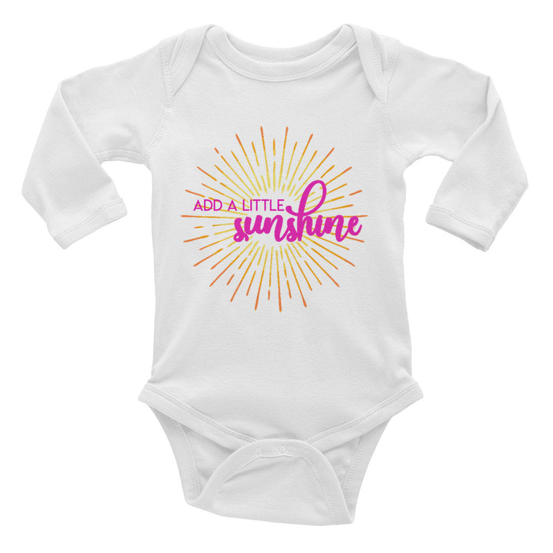 Add a Little Sunshine Baby Long Sleeve Onesie