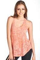 Women's Flowy Burnout Tank Top