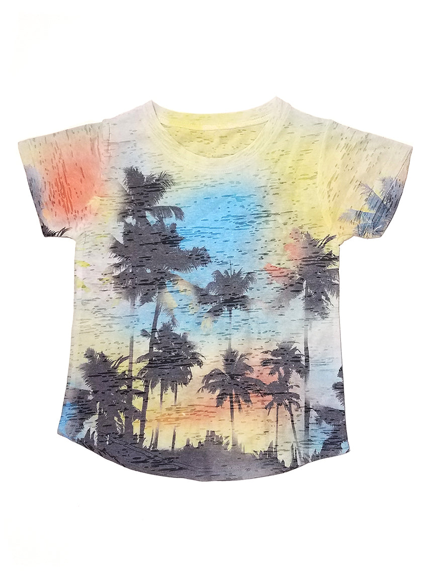 Kids Burnout Crew Neck T-Shirt - Sublimation