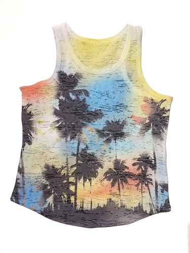 Kid's Burnout Tank Top - Sublimation