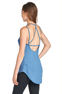 Strappy Back Two Line Spaghetti Top