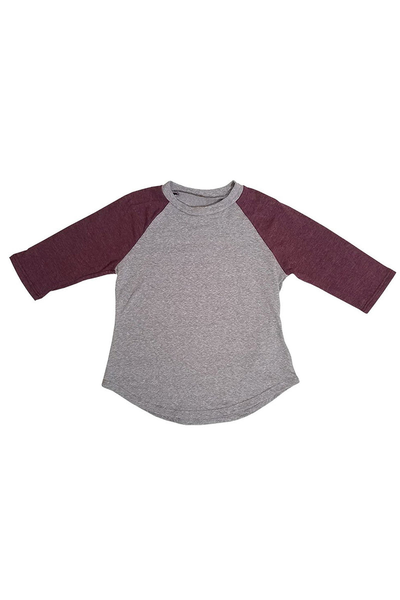 KIDS BOY & GIRL TRIBLEND RAGLN 3 QUARTER TOP