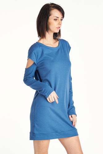Women's FRENCH TERRY OPEN ARM DRESS