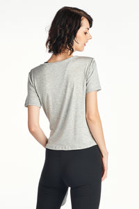 Women's Silky front split tail top