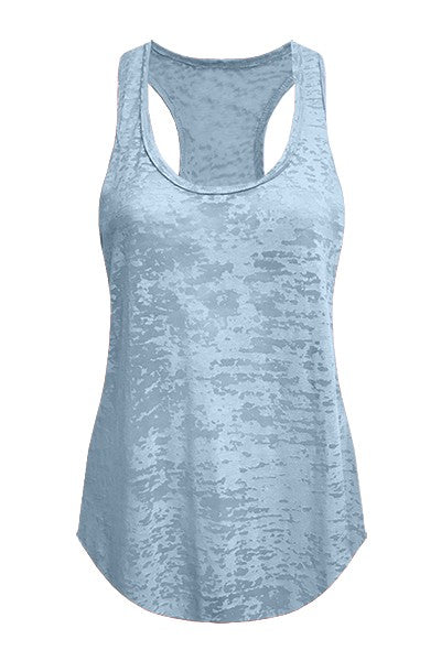 Burn Out Tank Top Plain