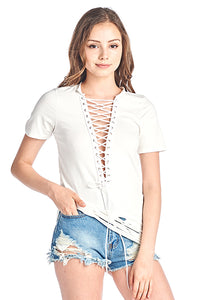 Eyelet Grunge short sleeve top