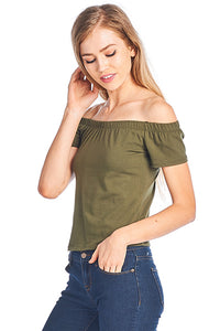 Off Shoulder Spandex Top
